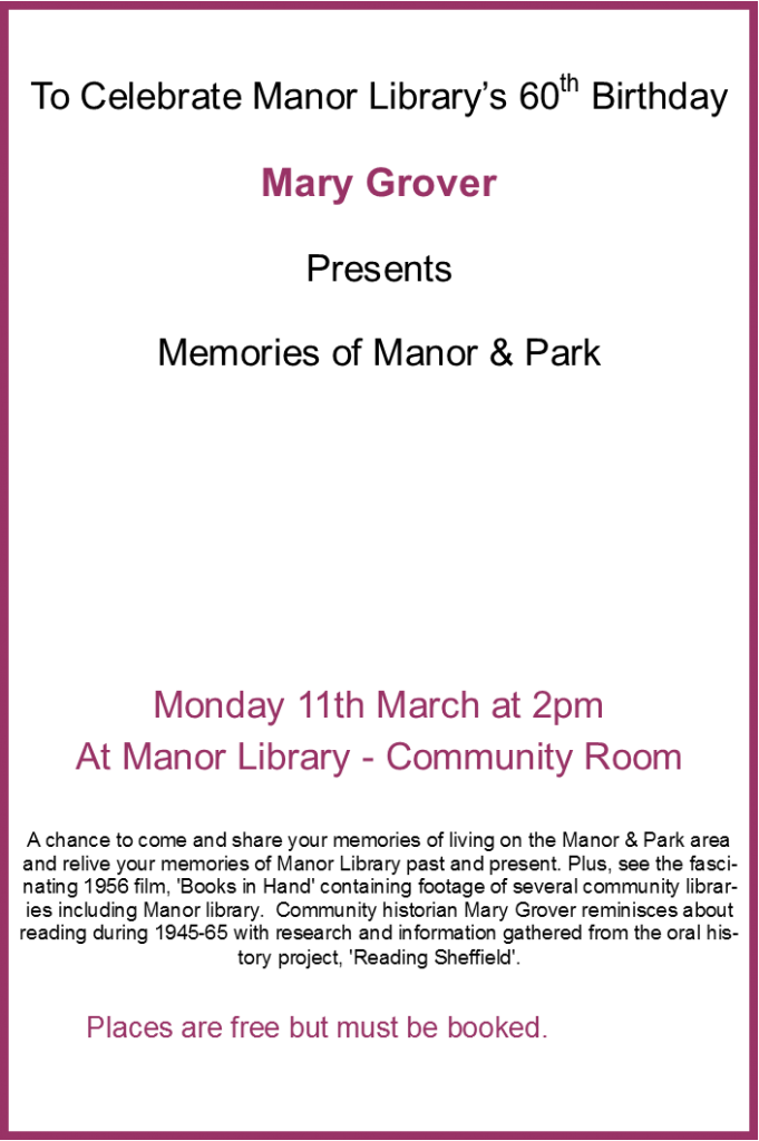 manor library 60th